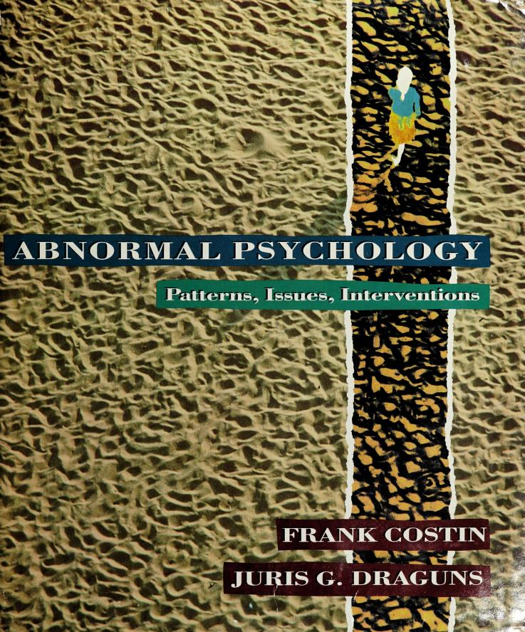 Abnormal psychology by Frank Costin