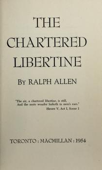 Cover of: Chartered libertine. -- | Allen, Ralph