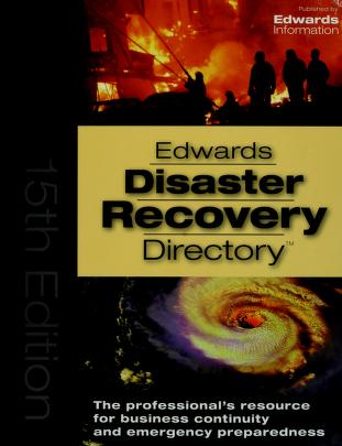 Cover of: Edward's disaster recovery directory | Edwards Information LLC